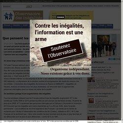 Que pensent les Français des inégalités?