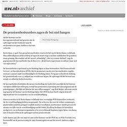 NRC: 17-04-2008 pensioenbestuurders zagen de bui niet hangen