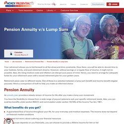 Pension Annuity or Lump Sum