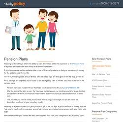 Compare Best Online Retirement Pension Plans