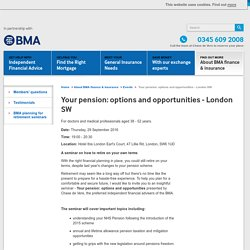 Your pension options & opportunities - London SW