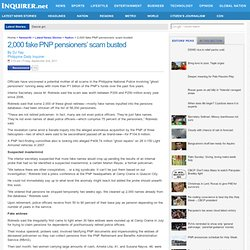 2,000 fake PNP pensioners' scam busted