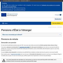 Pensions d'État à l'étranger - L'Europe est à vous