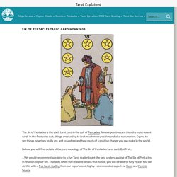 Six of Pentacles Tarot Card Meanings - All Tarot Explained HERE!