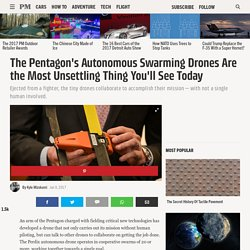 The Pentagon's Autonomous Swarming Drones Are the Most Unsettling Thing You'll See Today