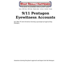 9/11 Pentagon Eyewitness Accounts