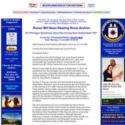 9/11 Pentagon Eyewitness Describes Having Seen Global Hawk *PIC*
