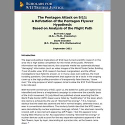 The Pentagon Attack on 9/11: A Refutation of the Pentagon Flyover Hypothesis Based on Analysis of the Flight Path - CometBird