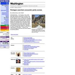 Pentagon searchers encounter grisly scenes