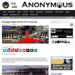 Pentagon Video Proves 9/11 Cover-Up AnonHQ