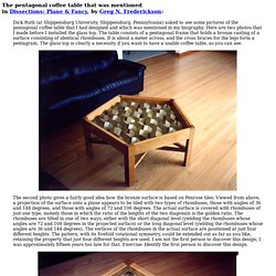 my pentagonal coffee table