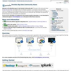 Big Data Community Home - Pentaho Big Data -Pentaho Wiki