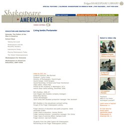 Living Iambic Pentameter-Folger Shakespeare Library: Shakespeare in American Life