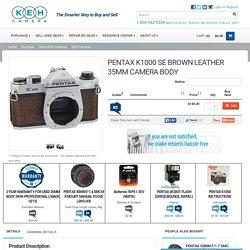 PENTAX K1000 SE BROWN LEATHER 35MM CAMERA BODY - KEH Camera