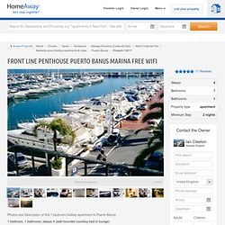 Front line penthouse Puerto Banus marina