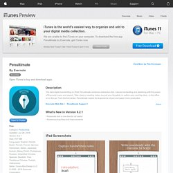 Penultimate for iPad on the iTunes App Store