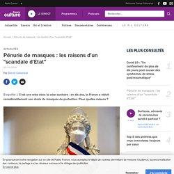 """Pénurie de masques : les raisons d'un """"scandale d'Etat"""""""