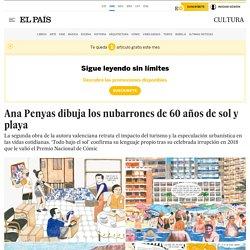 Ana Penyas dibuja los nubarrones de 60 años de sol y playa