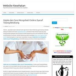 Penyebab Gejala dan Cara Mengobati Cedera Syaraf Tulang Belakang