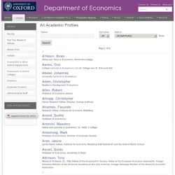 Oxford University, Department of Economics
