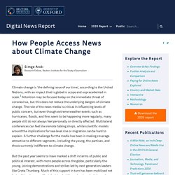 How People Access News about Climate Change