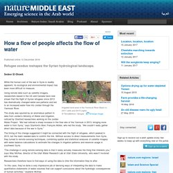 How a flow of people affects the flow of water - News - Nature Middle East