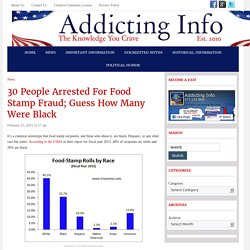 30 People Arrested For Food Stamp Fraud; Guess How Many Were Black