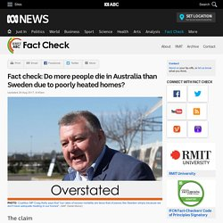 Fact check: Do more people die in Australia than Sweden due to poorly heated homes? - Fact Check