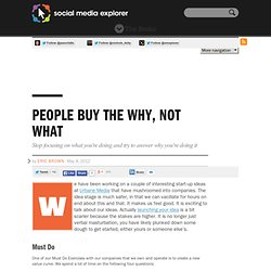 People Buy The Why, Not What