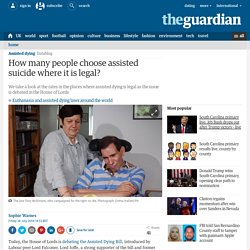 How many people choose assisted suicide where it is legal?