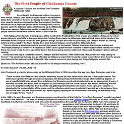 The First People of Clackamas County, Oregon
