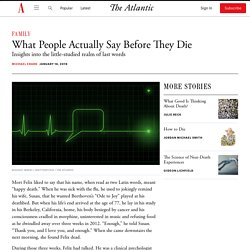 How Do People Communicate Before Death?