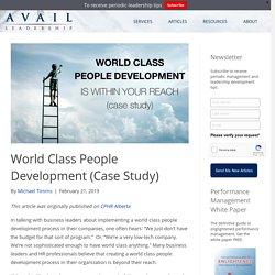 World Class People Development (Case Study)