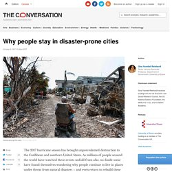 *****Inertia: Why people stay in disaster-prone cities
