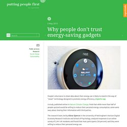 Why people don't trust energy-saving gadgets - Putting people first