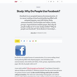 Study: Why Do People Use Facebook?