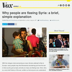 Why people are fleeing Syria: a brief, simple explanation