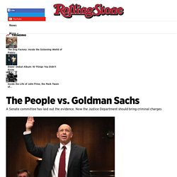 The People vs. Goldman Sachs