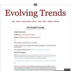 The People's Google « Evolving Trends