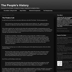 The People's History: The Finders Cult