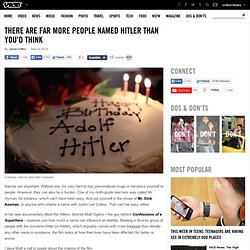 There Are Far More People Named Hitler Than You'd Think