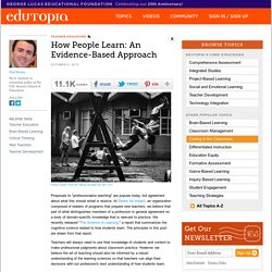 How People Learn: An Evidence-Based Approach