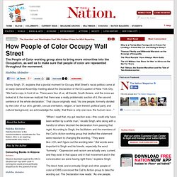 How People of Color Occupy Wall Street