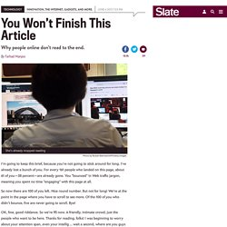 How people read online: Why you won't finish this article.