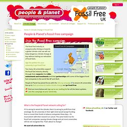 People & Planet's Fossil Free campaign