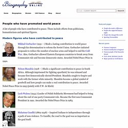 People who have promoted world peace
