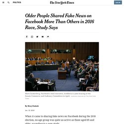 Older People Shared Fake News on Facebook More Than Others in 2016 Race, Study Says