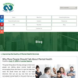 Why More People Should Talk About Mental Health