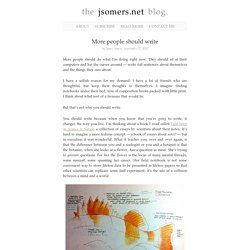 More people should write « the jsomers.net blog