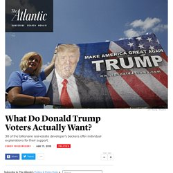 Why Do People Support Donald Trump?